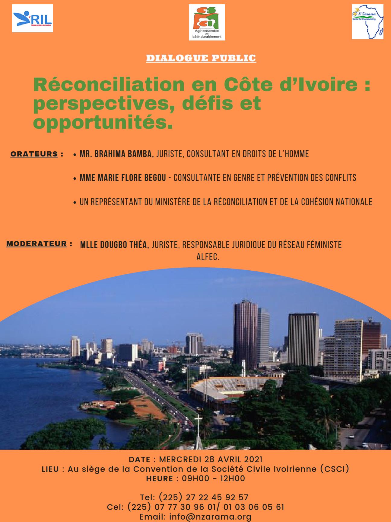 Dialogue public sur la réconciliation en Côte d'Ivoire